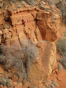 Rock Climbing Photo: Taking a short-cut to the petroglyph panels at the...