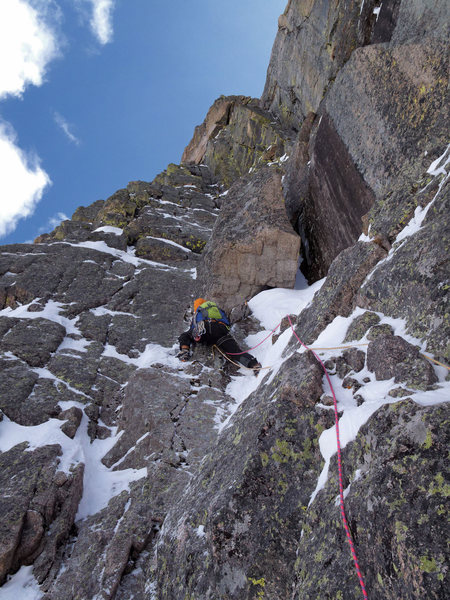 Rock Climbing Photo: Nate Erickson leading above the chimney. On April ...