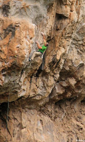 "Rock Climbing Photo: Ed starting the route - ""Mike Wazowski"" ..."