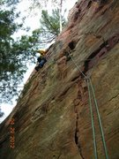Rock Climbing Photo: Pitch 2 of 10 hour lead marathon 4-29-12.  I liked...