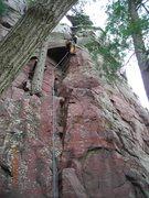 Rock Climbing Photo: Pitch 10 of 10 hour lead marathon.  4-29-12.