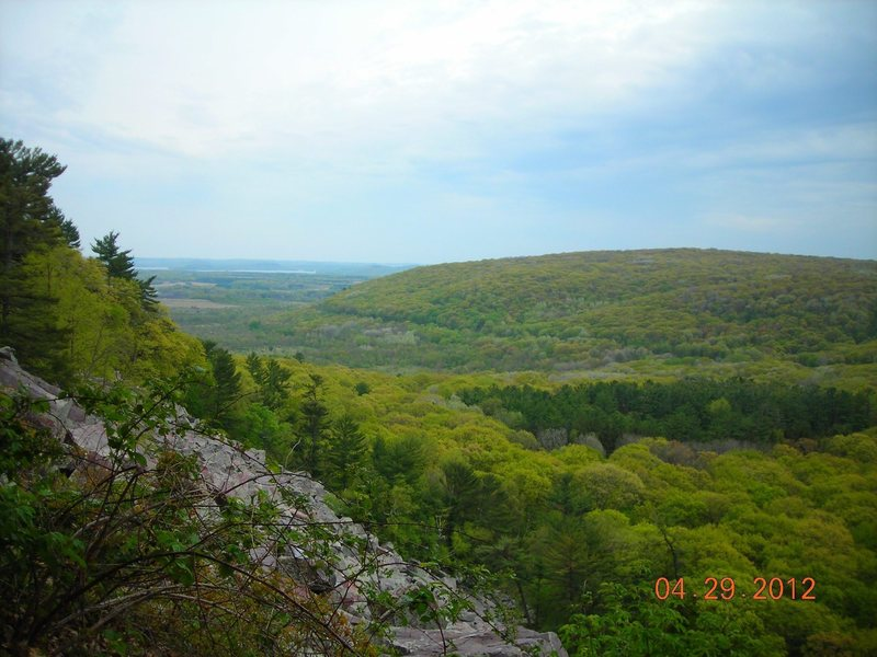 Rock Climbing Photo: View to the East from East Bluff.  Sunday April 29...