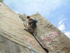 Rock Climbing Photo: Climbing the crack