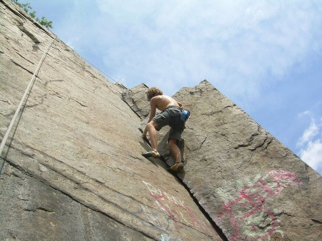 Climbing the crack