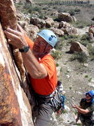 Rock Climbing Photo: Starting up Ewe F. O.
