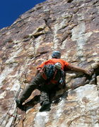 Rock Climbing Photo: Fun movement on the lower part of Ewe F. O.