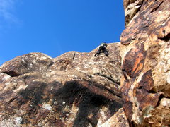 Rock Climbing Photo: Jascha on an upper tier route above the corral.