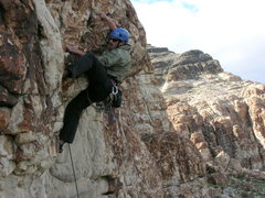 Rock Climbing Photo: Fun little roof route just inside the left side of...