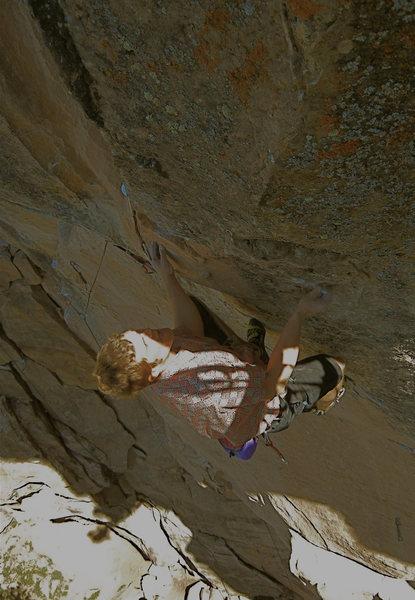 Rock Climbing Photo: In the crux. Photo taken by Andrea Sokolowski.