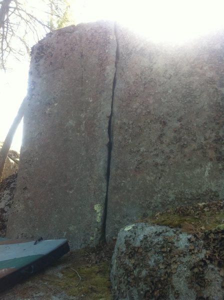 Rock Climbing Photo: 5.9 Finger Crack.