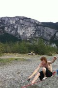 Slacking in Squamish B.C <br />With the Chief Looming in the Back