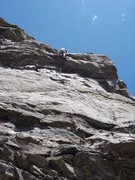 Rock Climbing Photo: This route is considerably easier than the immedia...