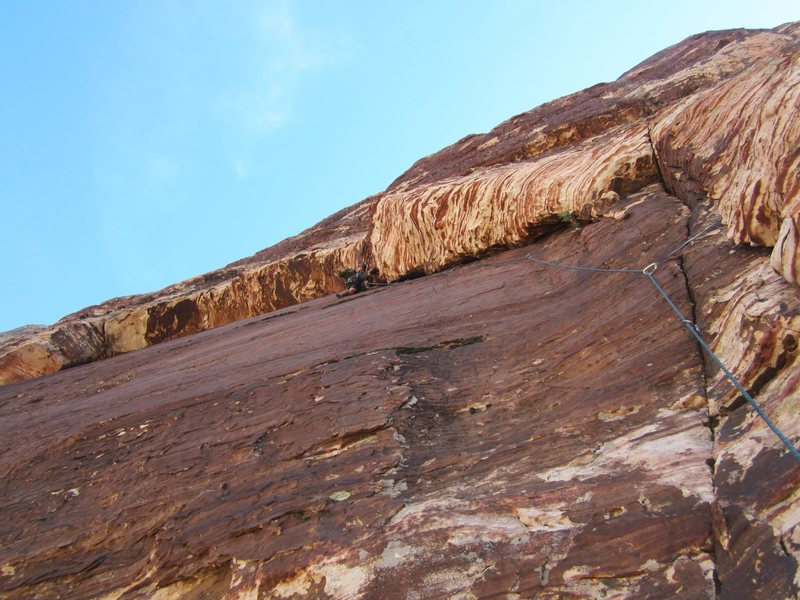 Rock Climbing Photo: P-4 5.9 variation.