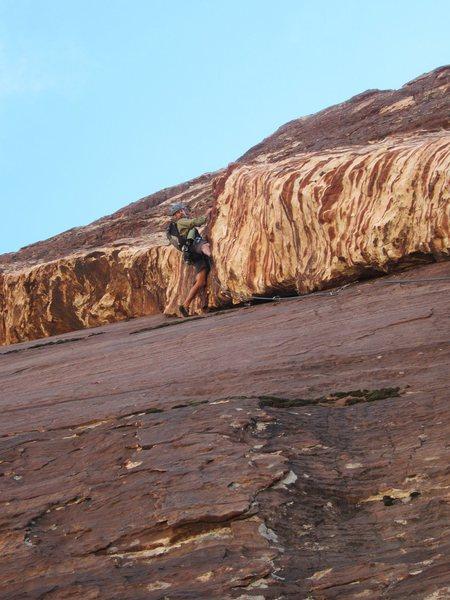 Rock Climbing Photo: Jonny's not Crabby on Crabby Appleton, he's full o...