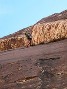 Rock Climbing Photo: Jonny's not Crabby on Crabby Appleton, he's full o...