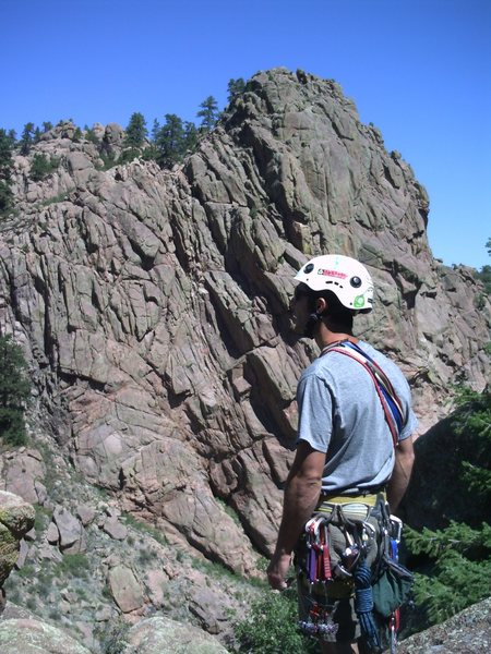 Rock Climbing Photo: John in Oak Creek Canyon.