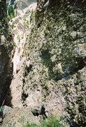 Rock Climbing Photo: Rappel on Chimney Peak, CO.
