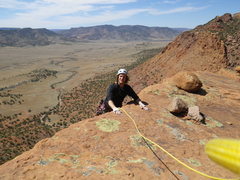 Rock Climbing Photo: Topping out on Tower Of Power.  Carson photo