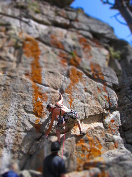 Rock Climbing Photo: Wayne Crill on starting crack.