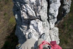 Rock Climbing Photo: Traversing in a different season.