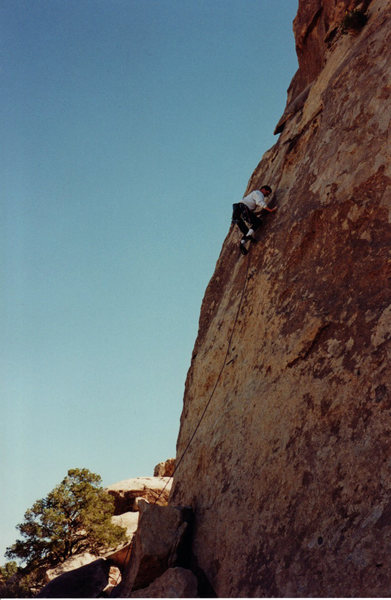 Rock Climbing Photo: Fred Batliner leading.