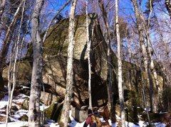 Rock Climbing Photo: Gigantic boulder, Goodrich Rock trail.
