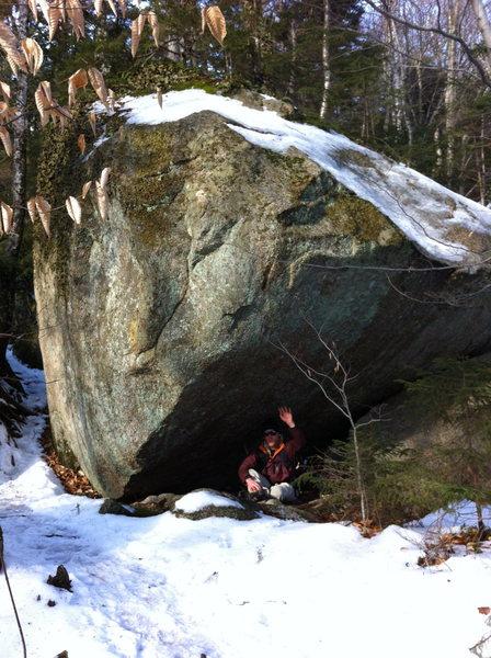 Shallow Corner boulder.