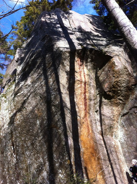 Rock Climbing Photo: Goodrich Rock.  Now that's what I call a boulder, ...