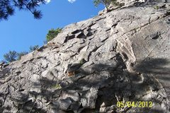 Rock Climbing Photo: Left side of Elmer Fudd's Wok.  Three bolts for to...