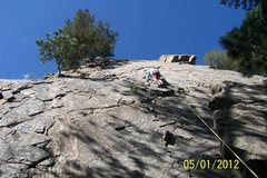 Rock Climbing Photo: Utilizing the anchor at the top of Elmer Fudd's Wo...