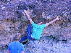 Rock Climbing Photo: Swinging across The Discotech.