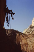 Rock Climbing Photo: Rapping Desert Shield with Angles landing in the b...
