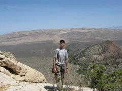 Rock Climbing Photo: andrew on top