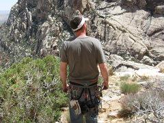 Rock Climbing Photo: tim on top