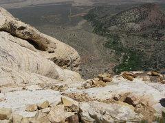 Rock Climbing Photo: trail into gully..