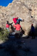 "Rock Climbing Photo: ""Swinging Richard"" V4. Photo By Jeff Lai..."