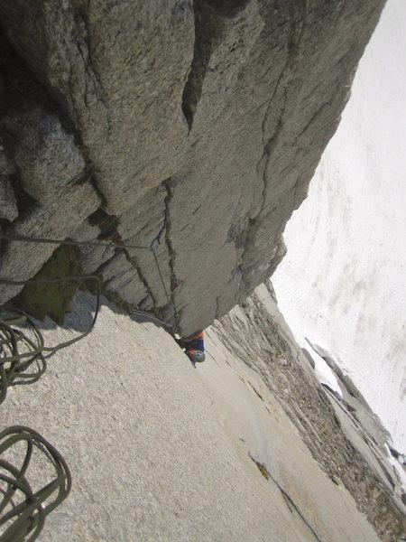 Rock Climbing Photo: getting into it