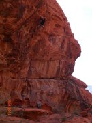 Rock Climbing Photo: viewof the route