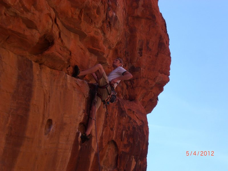 starting the steep face