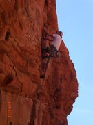Rock Climbing Photo: up high on the route
