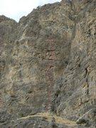Rock Climbing Photo: The Coral Sea, Box Canyon ID