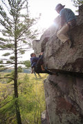Rock Climbing Photo: Ryan belays as Stewart follows ADR. Photo: Giulia ...