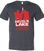 2012 Devils Lake Century Climbing Challenge shirt.  Front, men's.  There will be a ladies shirt as well with the same design, but different material cut.