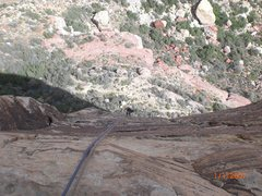 Rock Climbing Photo: rapping off triassic sands