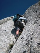 Rock Climbing Photo: Last crack pitch on Pilier Martin.