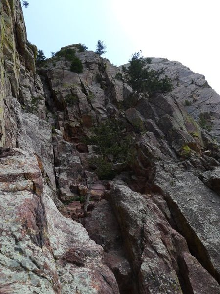 Rock Climbing Photo: Start of the arete.