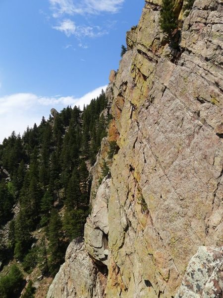 Rock Climbing Photo: Looking toward Green Spur Buttress.