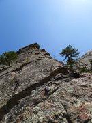 Rock Climbing Photo: Top of the arete.