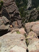 Rock Climbing Photo: Downclimb to the notch between Lumpe Tower and Tow...