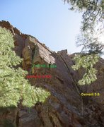 Rock Climbing Photo: Location of Demerit.